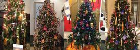 Árboles de Navidad en varios hoteles